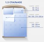 1 5 размер постельного белья – Размер 1,5-спального постельного белья (27 фото): стандарты для полутороспальных комплектов