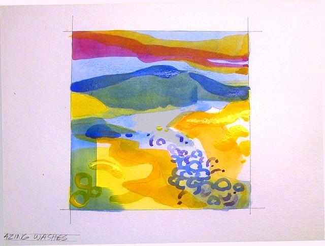 Рисунок одним цветом с разными оттенками для детей – Пейзаж красками одним цветом для новичков