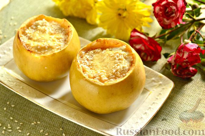Яблоко запеченное с творогом в духовке – Запеченные яблоки с творогом в духовке — 7 лучших рецептов, советы и рекомендации