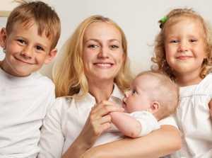 На что може� рассчитывать молодая мама с ребенком